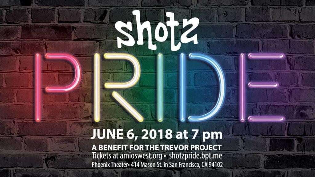 Shotz : Pride benefit for the Trevor Project https://shotzpride.brownpapertickets.com/