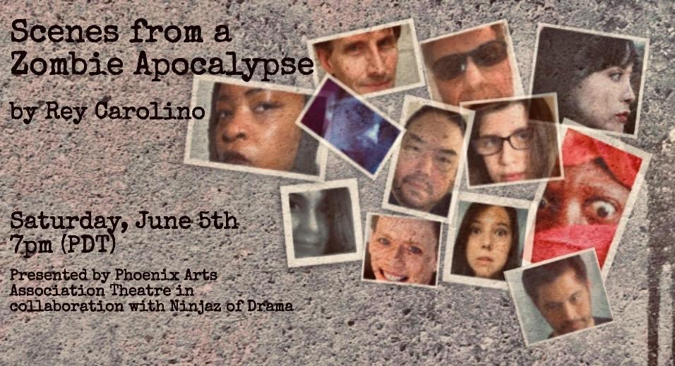 Scenes from a zombie apocalypse by Rey Carolino postcard