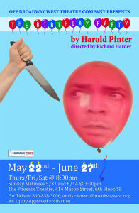 Poster for show now showing may22-june27