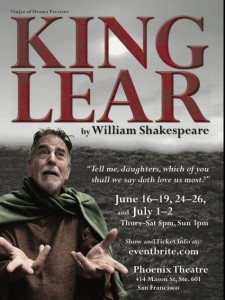 Postcard for King Lear at Phoenix Theatre June 2016